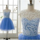 Lace Tulle Bridesmaid Dress Prom Dress Mint Blue Blue Dress Evening Dress Homecoming Dress