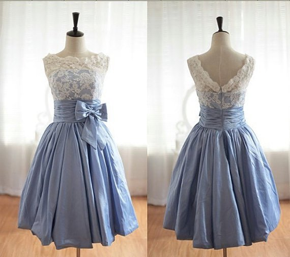 Lace Dresses, Short Prom Dresses, Bridesmaid Dress, Fashion Evening Dress, Taffeta Wedding Dresses