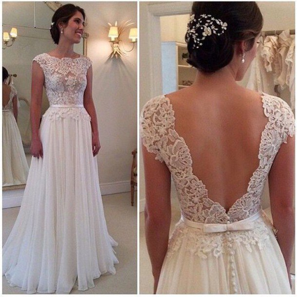 White Long Backless Sexy Prom Dresses 2015 Long Evening Dress