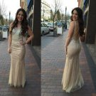 Charming Prom Dress,Mermaid Prom Dress,Beading Prom Dress,Backless Prom Dress