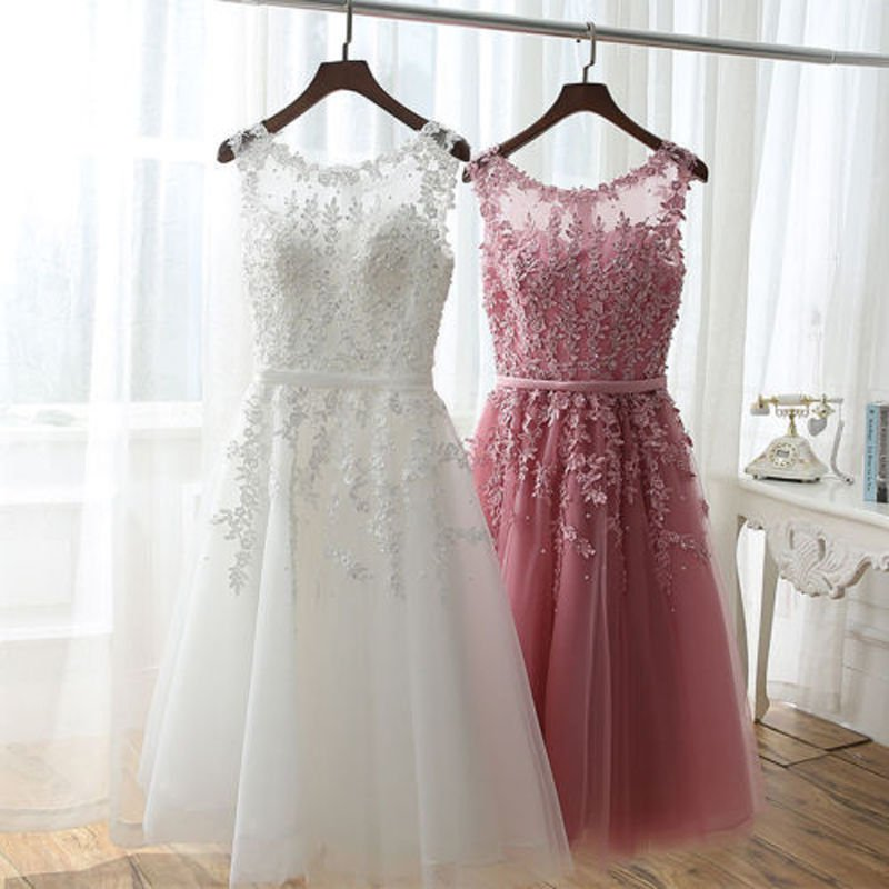 Short A-Line Tulle Homecoming Dress, Short Prom Dress