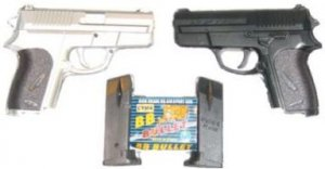 2 Pack Airsoft Pistol's with  Plastic Case Cases TWO BB AIRSOFT PISTOLS