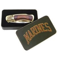 US Marines Knife in Metal Tin Collectible Collect Knive