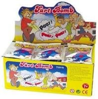 72 Unit Display Stinky Fart Bombs Bomb Packets Wholesale Funny Smelly