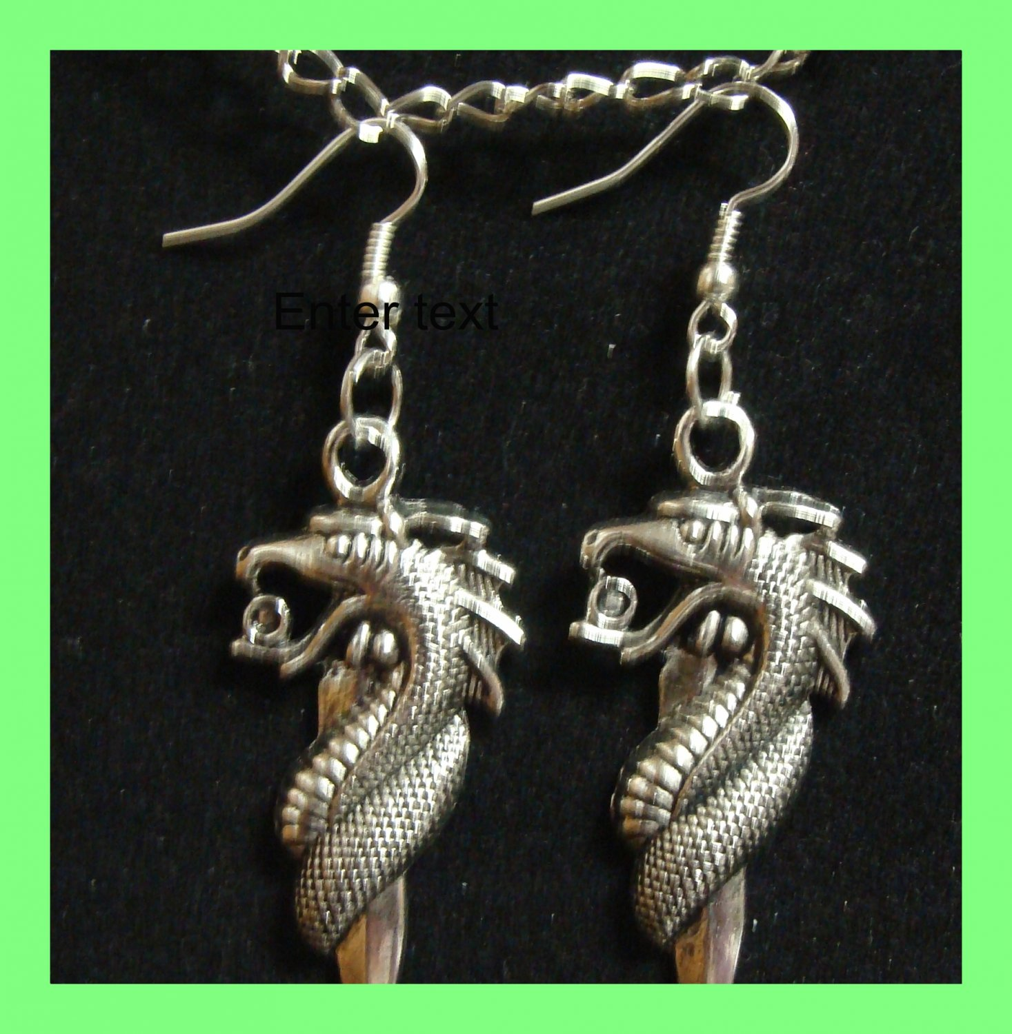 Wiccan Dragon Earrings Spell Haunted Magick Laveau Mystic