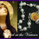Authentic Italian Rosary Bracelet Glass Pearl Vatican Catholic c-1