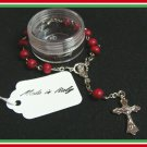 Authentic Italian Rosary Bracelet Rosewood Vatican Blessed Catholic c-1