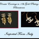 2x Classic Earrings Letter Dangle Wheat Gold Inspired Italian c-2