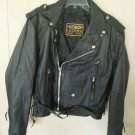 Women's Premium Top Grain leather motorcycle jacket classic MC style zip out