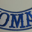 """Blue Nomad Patch  Outlaw Biker Club Group MC Back Patches  Bottom Rocker New 9"""""""