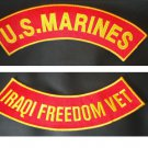 US Marines Iraqi Freedom Vet PATCH SET Biker Motorcycle Veterans Patches New