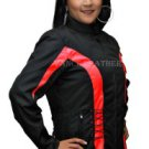 Womens Motorcycle DuPont Textile Jacket Black & Red Vents Zipout Liner New