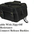 Detachable Motorcycle Saddlebags 2 Strap Quick release Zip Off  Plain  # 218