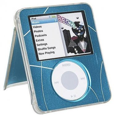 Blue Neo Ipod Nano 3G Neo Acrylic Kickstand Case Props up your Pod Strong New