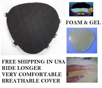 Motorcycle Driver Seat Gel Pad Cushion for Suzuki INTRUDER 800 1500 1600 1800