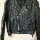 Mens classic MC Brando style Motorcycle Jacket size Large