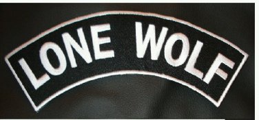 LONE WOLF Patch Top Rocker For Jacket Vest Motorcycle Riders Biker Patches.
