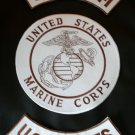 US Marines Back Patches Set Combo Semper Fi Rockers and center Patch New