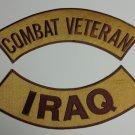 Combat Veteran Iraq War Patches Rockers set for vest  Jacket NEW combat Colors