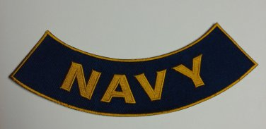 US Navy Rocker Bottom Back Patch for Biker motorcycle vest or Jacket Brand  New