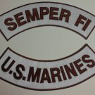 US Marines Semper Fi Patches Rockers set for Biker motorcycle vest or Jacket New