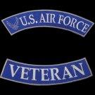 US Air Force Veteran Rockers Set Back patches For Jacket Vest Shirt New 2 Pieces