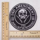 2ND AMMENDMENT SHALL NOT BE INFRINGED PATCH FOR BIKER MOTORCYCLE JACKET VEST