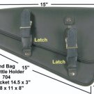 MOTORCYCLE Leather Solo Bag Swingarm SIDE Bag for Harley Sportster Models new704