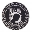 "LARGE POW MIA PATCH FOR BACK OF VEST OR JACKET SIZE 10"" WE LEAVE NO ONE BEHIND"
