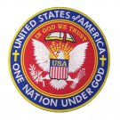 ONE NATION UNDER GOD IN GOD WE TRUST PATCH LARGE CHRISTIAN TEA PARTY PATRIOT