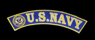 US NAVY VETERAN PATCHES ROCKRS SET 2 PC FOR MOTORCYCLE BIKER LEATHER VEST JACKET