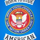 BORN TO RIDE AMERICAN 3 PC LARGE BACK PATCHES SET ONE NATION UNDER GOD PATRIOTIC