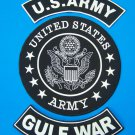 US ARMY GULF WAR BACK PATCHES FOR VETERAN VET BIKER MOTORCYCLE VEST JACKET