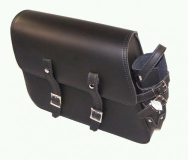 MOTORCYCLE Leather Solo Bag side arm Bag for Harley Davidson Sportster 1982-2003