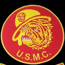 US Marines Corps Red Devil Dog Bull Dog Patch Large Red Back Patch For vest
