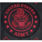 Red US ARMY LARGE BACK PATCH FOR BIKER MOTORCYCLE VEST JACKET