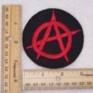 RED ANARCHY SYMBOL OUTLAW BIKER PATCH FOR BIKER MOTORCYCLE VEST JACKET RED NEW