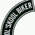 """OL Skool Biker Patch Rocker Biker old school Motorcycle Vest Jacket size 11"""""""