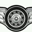 Motorcycle Biker Patch Winged Silver Wheel with Wings Large Size 11 x 4 inches