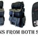 Jumbo Leather Motorcycle SissyBar Bags T Bag Set Travel Touring Pack Set DUAL