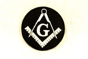 G  White on black Small Badge for Biker Vest Jacket Motorcycle Patch