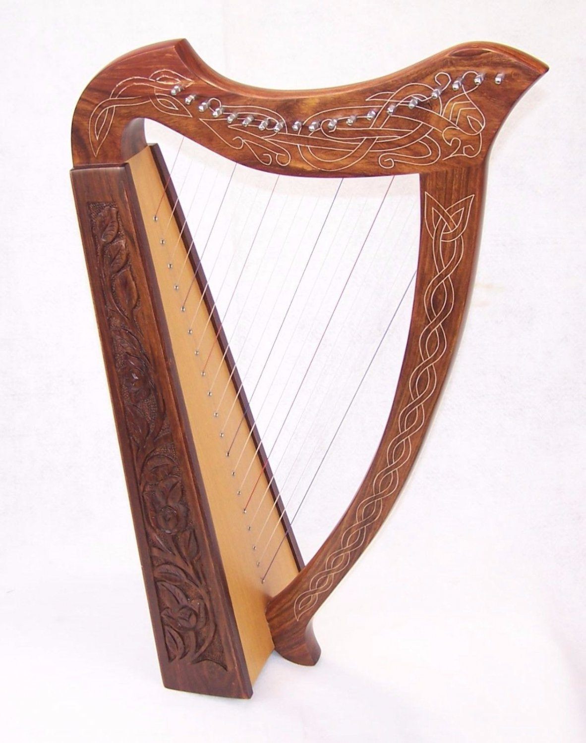 Celtic Harp 19 string Irish Style with Bag & Extra strings key included née