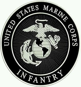 US Marine Corps Infantry patch Marines Large Back Patch Veterans Bikers patches