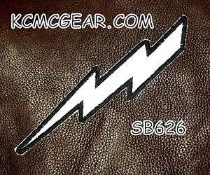 LIGHTNING BOLT REFLECTIVE Small Badge for Biker Vest Jacket Motorcycle Patch