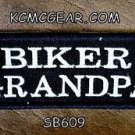 BIKER GRANDPA White on Black Small Badge for Biker Vest jacket Motorcycle Patch