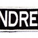 ANDREW Name Tag Patch Iron or sew on for Shirt Jacket Vest New BIKER Patches