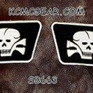 DEATH SKULL Collar set L1 Small Badge for Biker Vest Motorcycle Patch