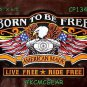 BORN TO BE FREE EAGLE AMERICAN MADE for Biker Motorcycle Jacket Back Patches 10""