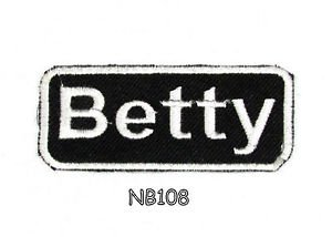 BETTY Name Tag Patch Iron or sew on for Shirt Jacket Vest New BIKER Patches