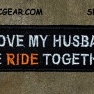 I LOVE MY HUSBAND Small Badge for Biker Vest Jacket Motorcycle Patch